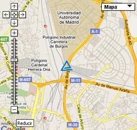 Plano situacion Itv Madrid empresa TUV