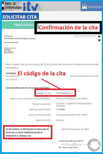 Cita ITV Extremadura confirmada
