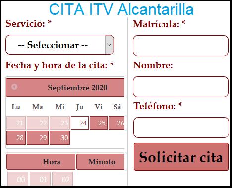 Cita ITV Alcantarilla